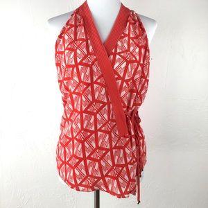 Anthropologie Leifsdottir Catalyst Silk Wrap Top